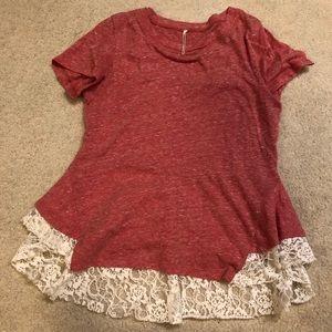 Lace Pink T-Shirt